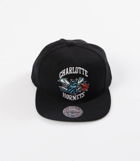 Mitchell & Ness- Wool Solid Snapback - NBA - Charlotte Hornets