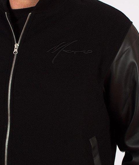 Moro Sport-Baseball Leather Kurtka Czarna