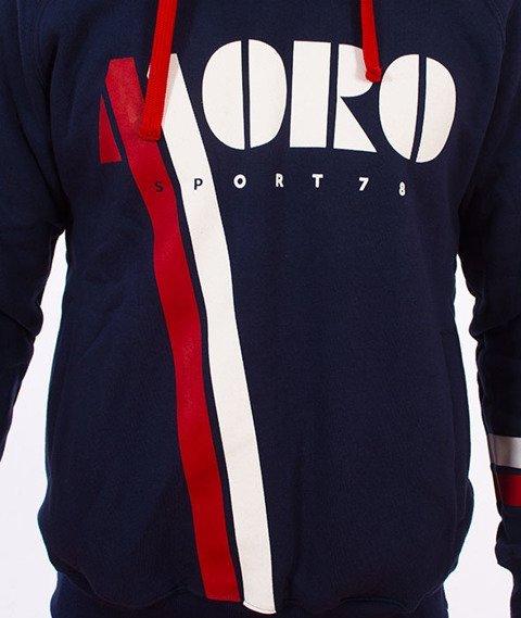 Moro Sport-Vintage Bluza Kaptur Granatowa
