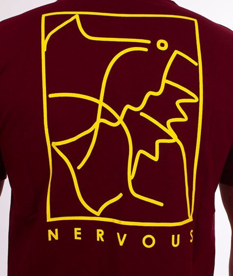Nervous-Deconstruck Sp18 T-shirt Maroon