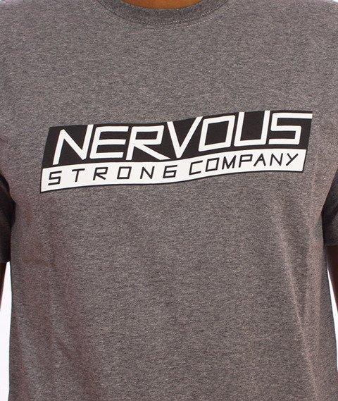 Nervous-Line T-Shirt Szary