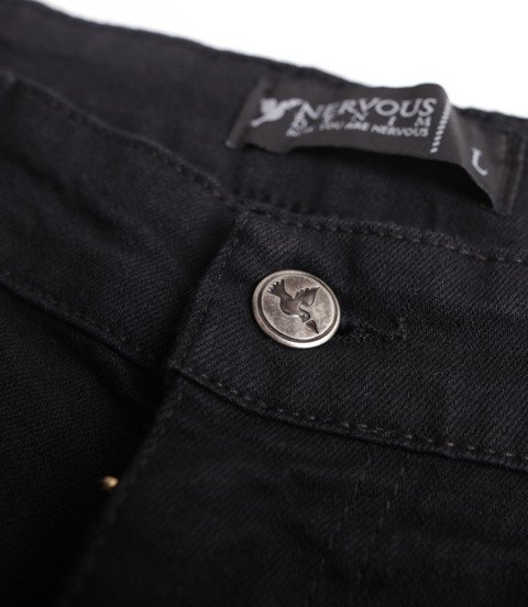 Nervous SS19 Classic Denim Spodnie Jeansowe Czarny