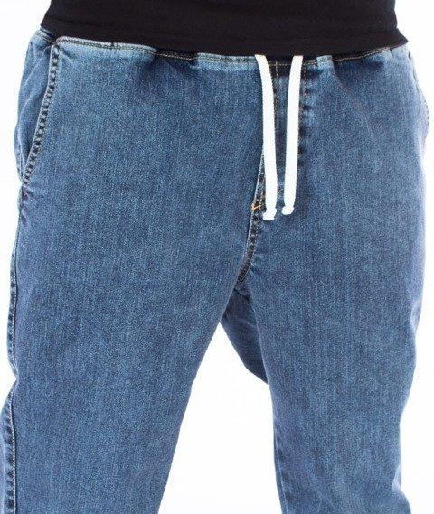 Nervous-Spodnie Marmurki Sp17 Jogger Jeans Niebieskie