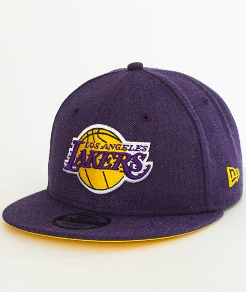 New Era-Lakers Heather Snapback Fioletowa