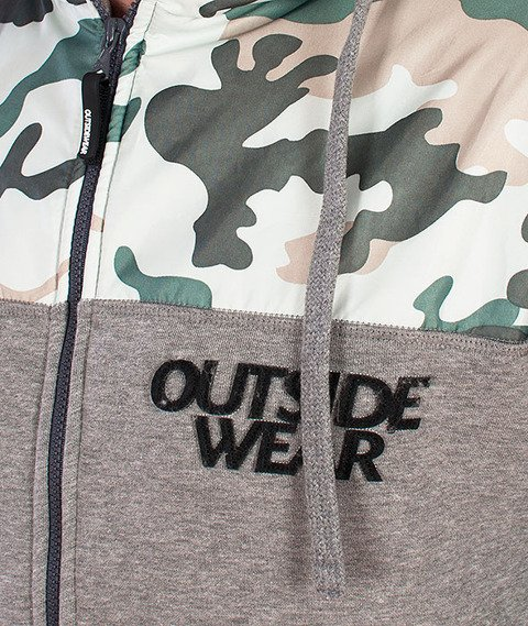 Outside Wear-Camo-CL Bluza Zip/Kurtka Szara/Camo