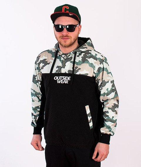 Outside Wear-Camo-CL Polo Bluza Kaptur/Kurtka Czarna/Camo