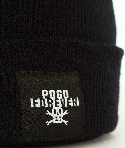 POGO-Forever Black Beanie Czapka Zimowa Czarna