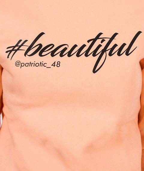 Patriotic-#Beautiful Bluza Damska Pudrowy Pomarańczowy