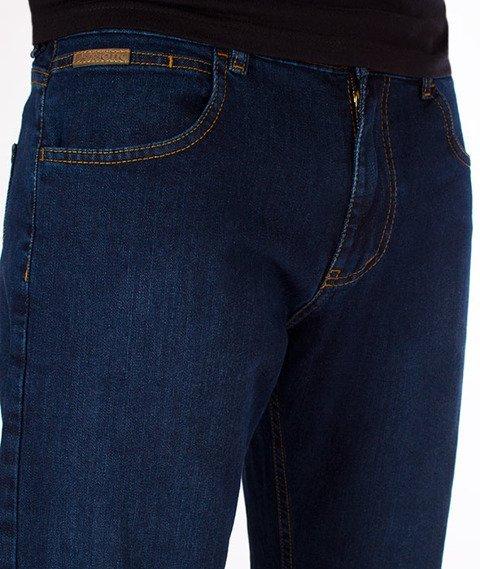 Patriotic-C1 Spodnie Jeansowe Ciemny Niebieski