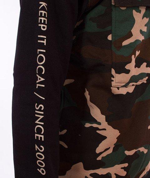 Patriotic-Futura Pocket Bluza Kangurka Woodland Camo/Czarna