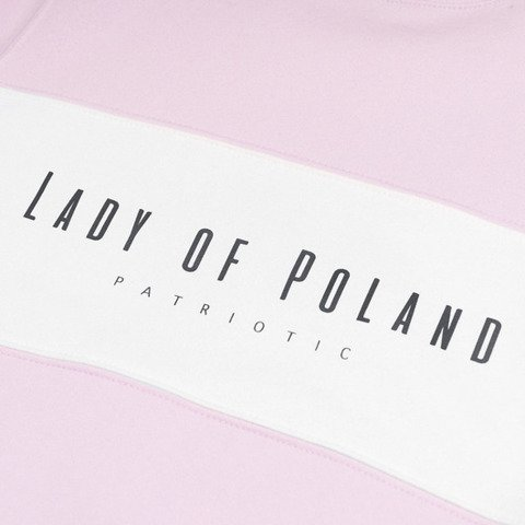 Patriotic Lady of Poland Bluza Damska Różowy