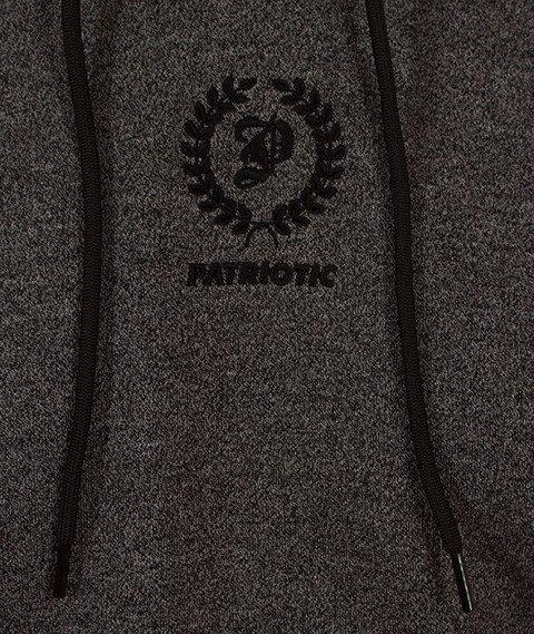 Patriotic-Laur Mini Bluza Kaptur Melanż/Czarna