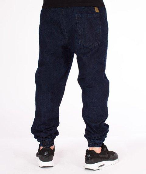 Patriotic-Laur Pelt Spodnie Jeansowe Jogger Ciemny Niebieski