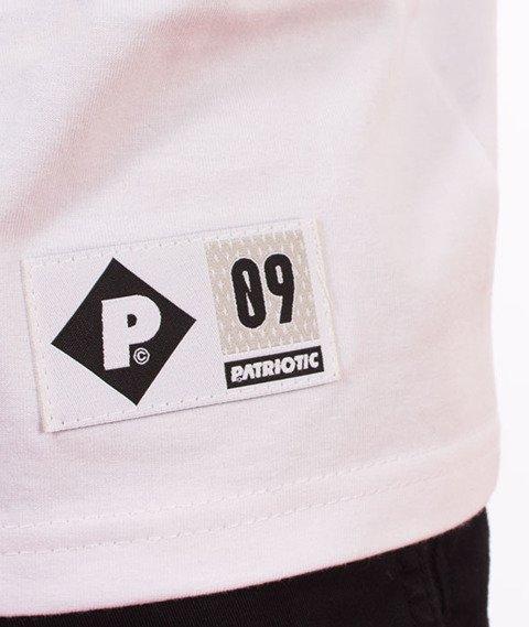 Patriotic-Neck T-shirt Biały/Granatowy