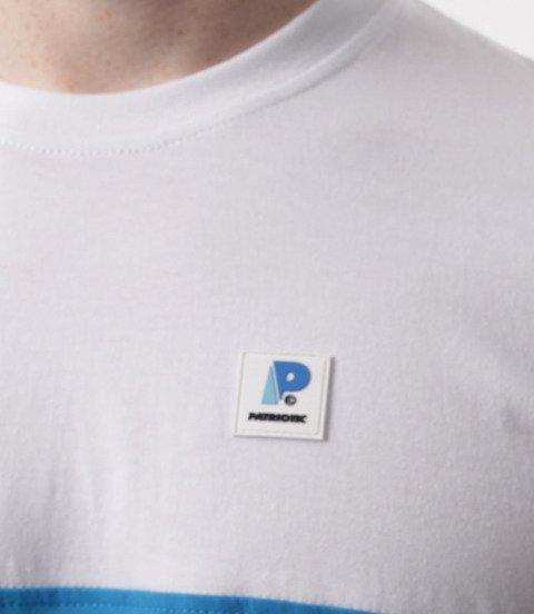 Patriotic-P App T-shirt Biało Chabrowo turkusowy