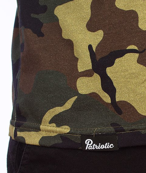 Patriotic-Shoulder T-Shirt Camo/Biały