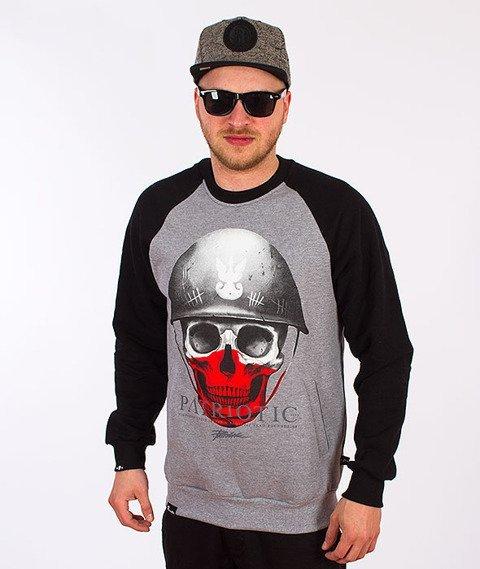 Patriotic-Skull New Bluza Szara/Czarna