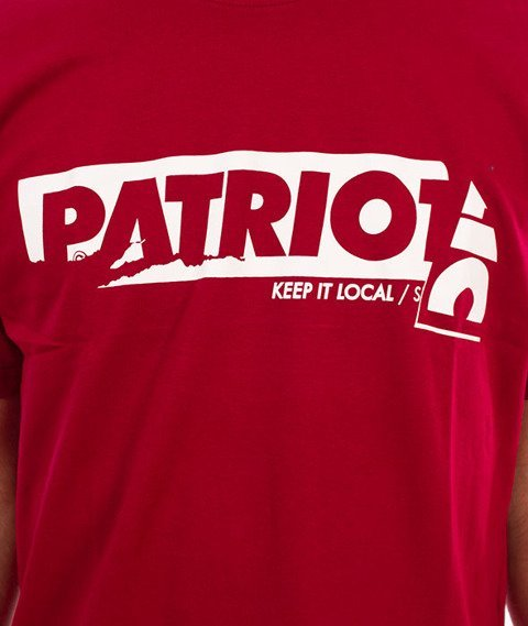 Patriotic-Sticker T-shirt Bordo