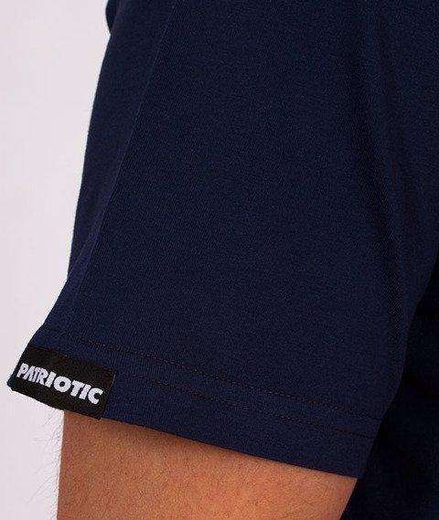 Patriotic-Sticker T-shirt Granat