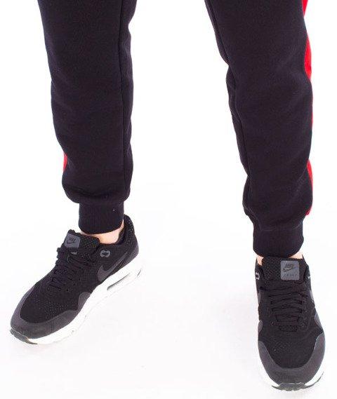 Patriotic-Tag Slices Spodnie Dresowe Czarny/Czerwony/Biały