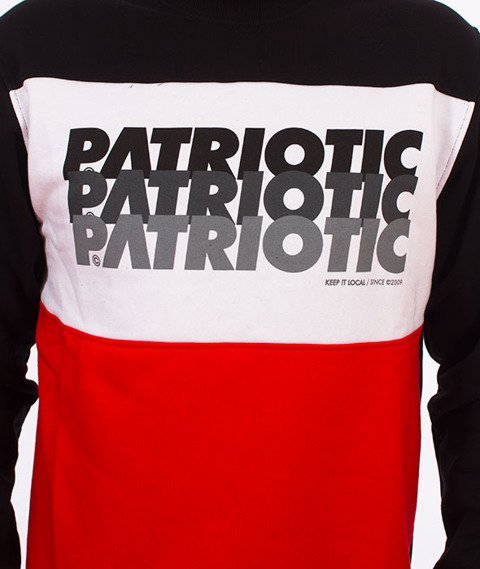 Patriotic-Trio Bluza Czarna/Biała/Czerwona