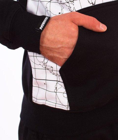 Patriotic-WW Map Bluza Kaptur Czarny/Biały