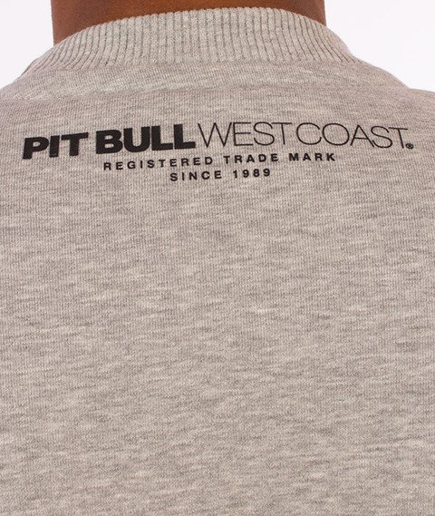 Pit Bull West Coast-Basic Crewneck Bluza Szara
