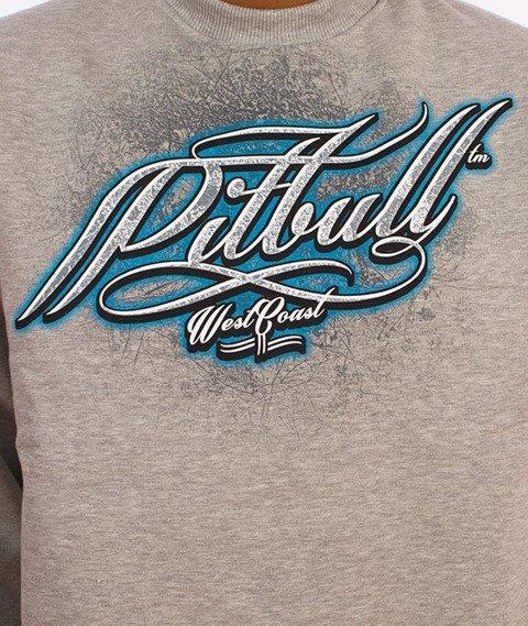 Pit Bull West Coast-California Dog Crewneck Bluza Szara