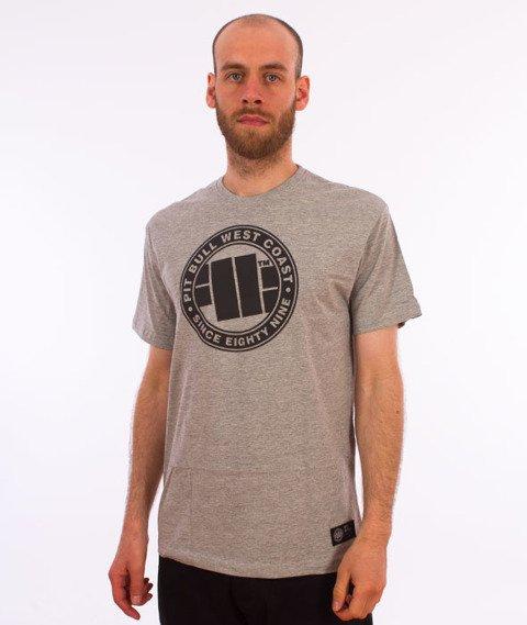 Pit Bull West Coast-Chest Logo T-Shirt Grey
