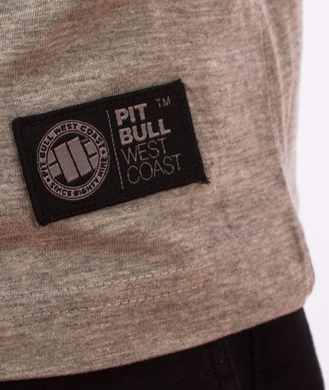 Pit Bull West Coast-Chest Logo T-Shirt Grey