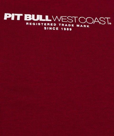 Pit Bull West Coast-Classic Boxing T-Shirt Burgundy