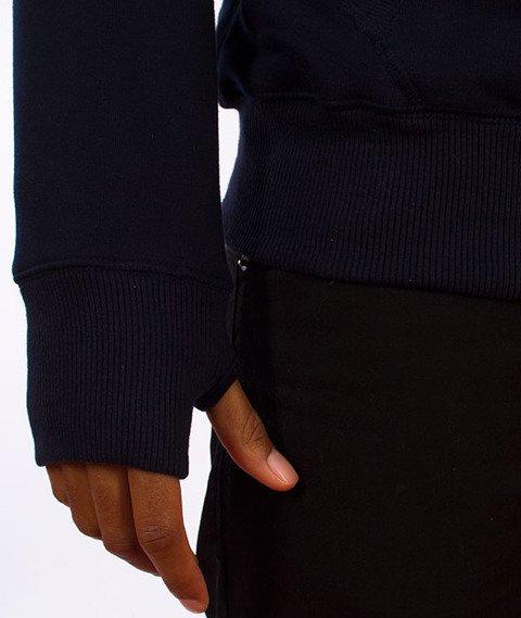 Pit Bull West Coast-Classic Logo Bluza Kaptur Ciemny Granat
