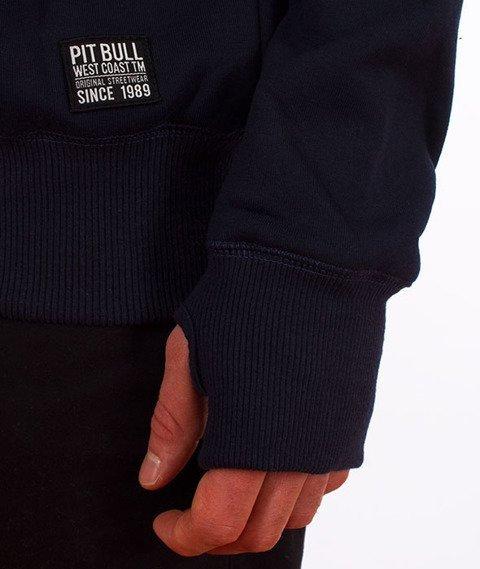 Pit Bull West Coast-Classic Logo Crewneck Bluza Granatowa