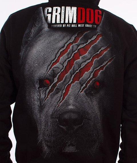 Pit Bull West Coast-Grim Dog Hoodie Bluza Kaptur Czarny