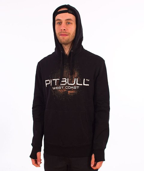Pit Bull West Coast-Hooded City of Dogs 18 Bluza Kaptur Czarna