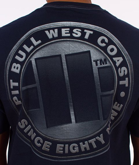 Pit Bull West Coast-Iron Plate T-Shirt Dark Navy