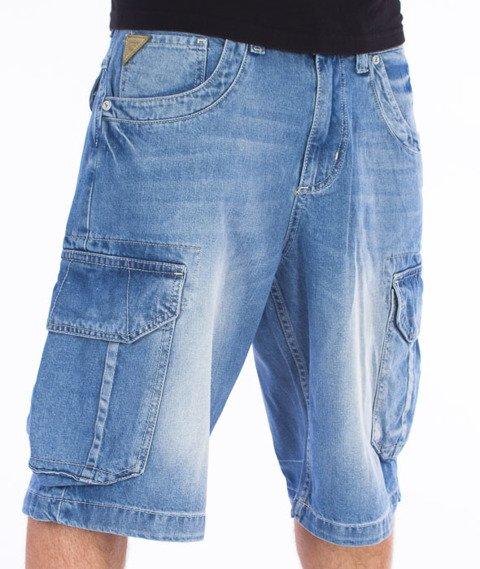 Pit Bull West Coast-Knee Spodnie Krótkie Jeans Jasne Spranie