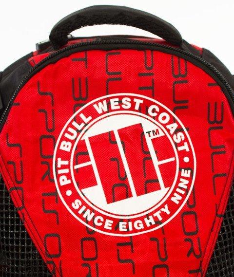 Pit Bull West Coast-Logo Plecak Treningowy Czerwony