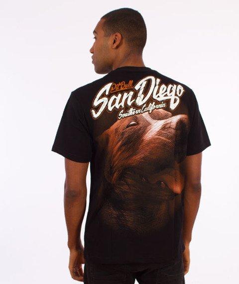 Pit Bull West Coast-San Diego Dog T-Shirt Czarny