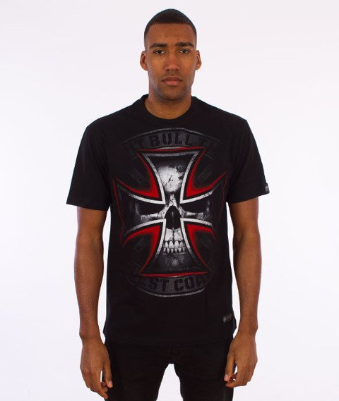 Pit Bull West Coast-Skull Cross T-Shirt Czarny
