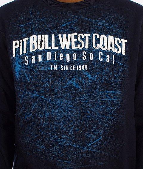 Pit Bull West Coast-Skull Dog Crewneck Bluza Granatowa