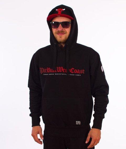 Pit Bull West Coast-Skull Dog Hoodie Bluza Kaptur Czarny