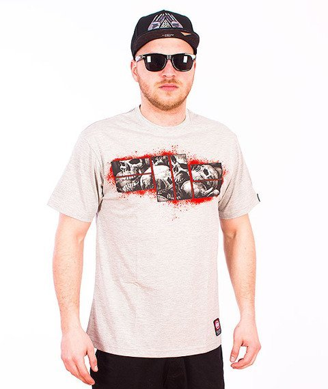 Pit Bull West Coast-Skull Logo T-shirt Grey Melange