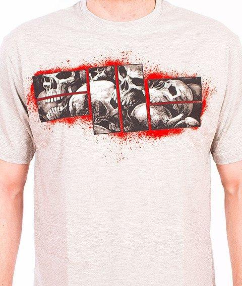 Pit Bull West Coast-Skull Logo T-shirt Grey Melange