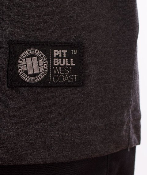 Pit Bull West Coast-Small Logo 18 T-Shirt Charcoal