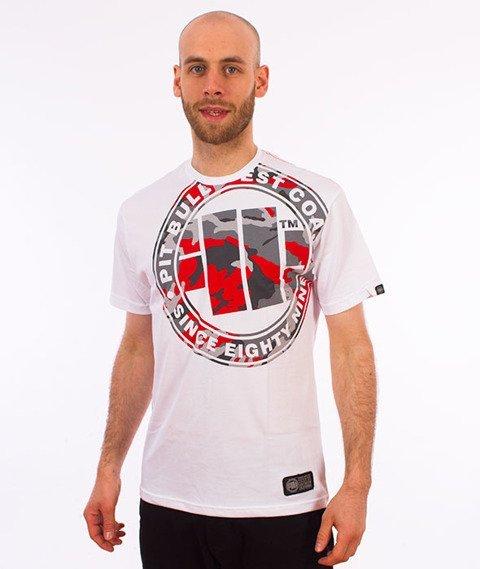 Pit Bull West Coast-Urban Camo T-Shirt Biały