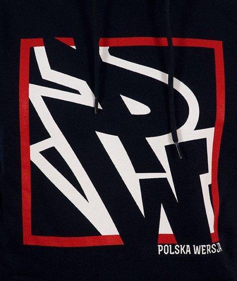 Polska Wersja-PW Do Kwadratu Bluza Kaptur Granat