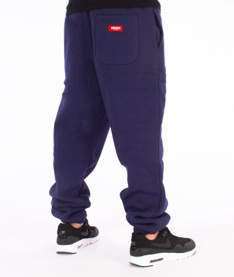 Prosto-Basic Spodnie Dresowe Granatowe