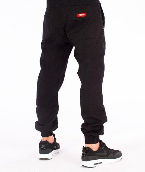 Prosto-Chino Jogger Spodnie Czarne