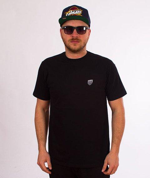 Prosto-Jaquard T-Shirt Czarny